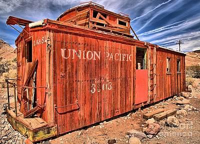 Photograph - Last Train At Rhyolite by Adam Jewell