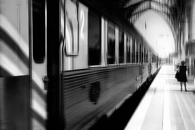 Railway Station Photograph - Last Train Leaving Paris by Rui Correia