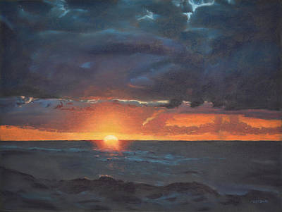 Painting - Last Wave Of The Day by Christopher Reid