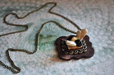 Wood Necklace Ceramic Art - Lasting Beauty by Amanda  Sanford