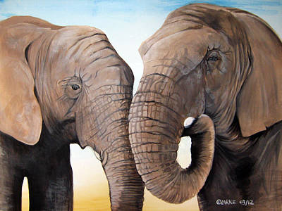Latabe And Five Art Print by Stacey Clarke