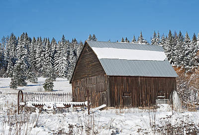 Photograph - Latah Co. Barn by Doug Davidson