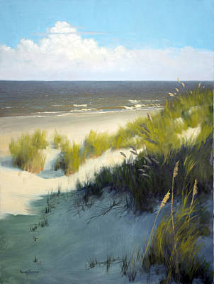 Sand Dunes Painting - Late Afternoon by Armand Cabrera