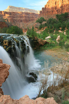 Late Afternoon At Little Navajo Falls  Art Print by Scott Cunningham