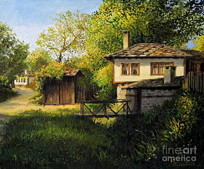 Architectural Art Painting - Late Afternoon In Bojenci by Kiril Stanchev
