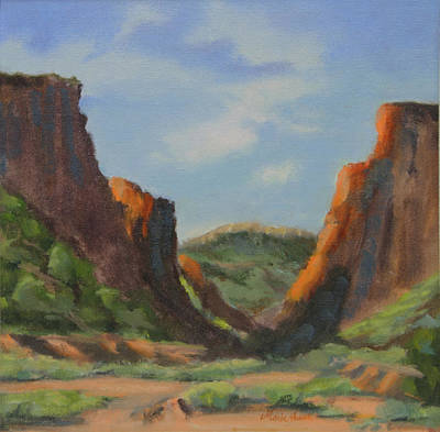 Late Afternoon In Diablo Canyon  Art Print by Maria Hunt