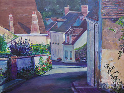 Shady Street Painting - Late Afternoon In Lavardin by Kathryn Barnes