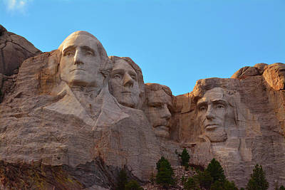 Mount Rushmore Photograph - Late Afternoon, Mount Rushmore National by Michel Hersen