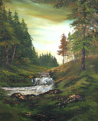 Cannock Chase Painting - Late Afternoon On Cannock Chase by Jean Walker