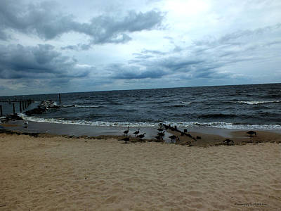 Photograph - Late Afternoon On Chesapeake Beach by Kimmary MacLean