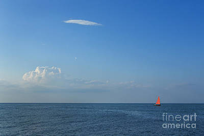 Ocean Sailing Photograph - Late Afternoon Sail by Diane Diederich