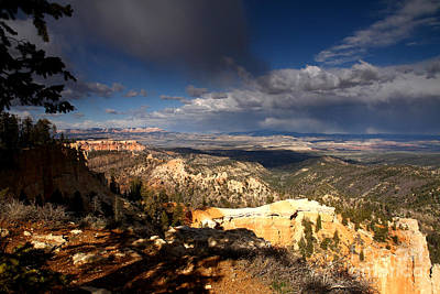 Photograph - Late Afternoon Storm Clouds Bryce Canyon by Butch Lombardi