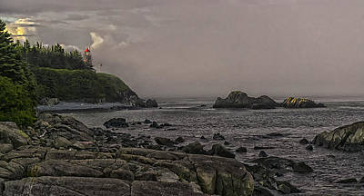 Quoddy Head State Park Photograph - Late Afternoon Sun On West Quoddy Head Lighthouse by Marty Saccone