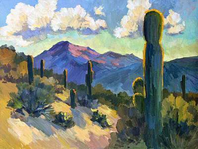 Saguaro Cactus Painting - Late Afternoon Tucson by Diane McClary