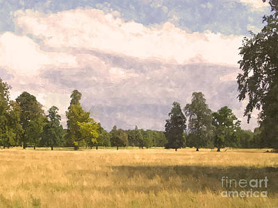 Suffolk Painting - Late Afternoon Wheatfield  by Pixel  Chimp
