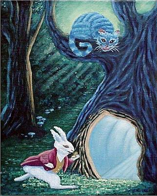 March Hare Painting - Late Again  by Fran Brooks