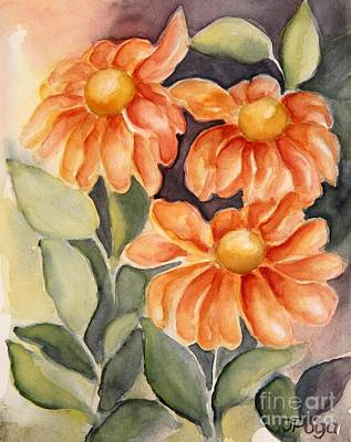 Painting - Late Autumn Flowers by Inese Poga
