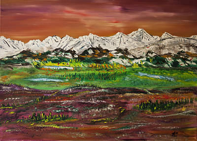 Painting - Late Autumn From Calgary by James Bryron Love