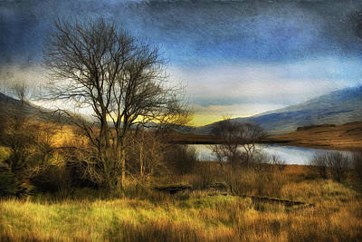 Snowdonia Autumn Lake Art Print