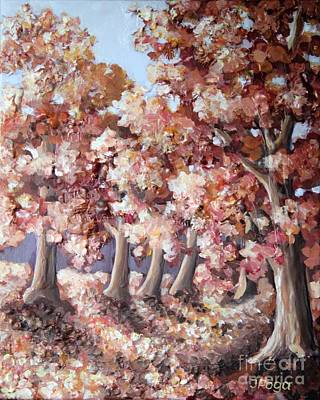 Painting - Late Autumn Maples by Inese Poga