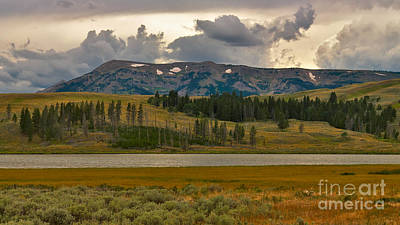Yellowstone Photograph - Late Day Mountain Panorama by Charles Kozierok