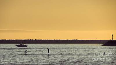 Photograph - Late Day Paddleboarding by Peggy Hughes