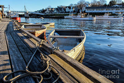 Surfing Maine Photograph - Late Day Sun In Perkins Cove by Joe Faragalli