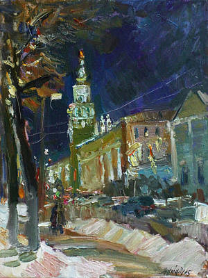 Painting - Late Evening On The Streets Of Liberty by Juliya Zhukova