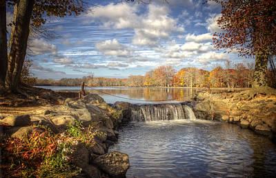 Belmont Lake State Park Wall Art - Photograph - Late Fall At Belmont Lake by Vicki Jauron