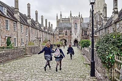 Vicars Close Photograph - Late For Class by Susie Peek