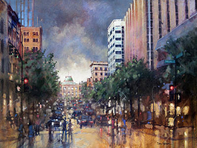 Painting - Late Friday Afternoon Showers by Dan Nelson