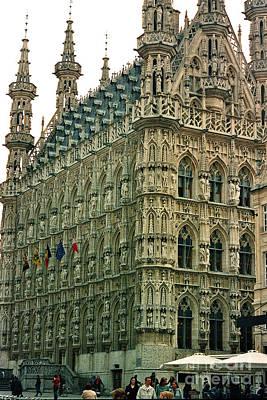 Photograph - Late Gothic Town Hall Leuven Belgium by Greta Corens