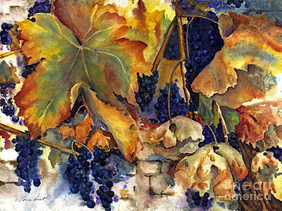 Grapevines Painting - The Magic Of Autumn by Maria Hunt