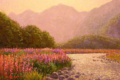 Painting - Late Light Egglinton Valley by Terry Perham