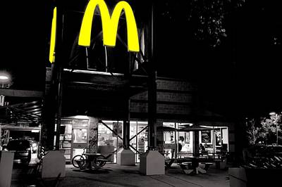 Photograph - Late Night Fine Dining by Bob Wall