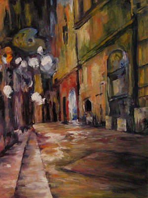 Painting - Late Night In The Old City by Connie Schaertl
