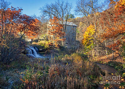 Late October At Pickwick Mill II Art Print