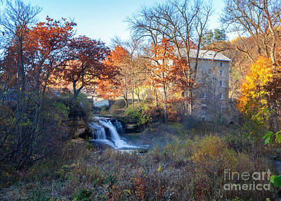 Late October At Pickwick Mill Art Print