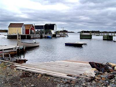 Late October In Blue Rocks Art Print by George Cousins