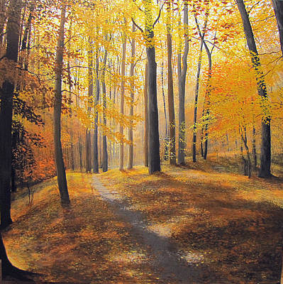 Painting - Late October Light And Shadow by David Bottini