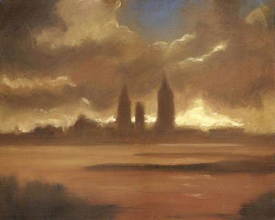 Late Rainy Day Clouds Lifting Art Print by Vernon Reinike