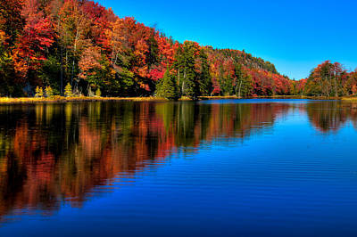 Fall Colors Photograph - Late September On Bald Mountain Pond by David Patterson