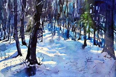 Net Painting - Late Snow Near Springer Mountain by Spencer Meagher