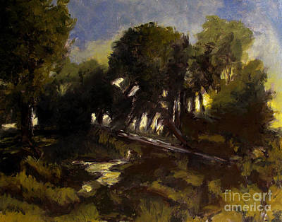 Tonalist Painting - Late Spring After The Winds by Charlie Spear