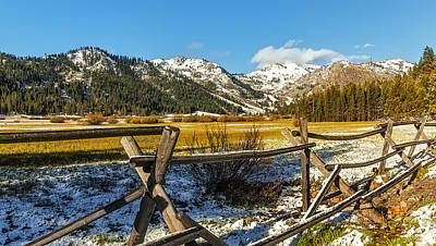 Late Spring Snow At Squaw Art Print by Nancy Marie Ricketts