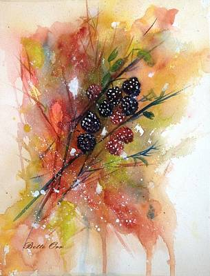 Painting - Late Summer Berries by Bette Orr