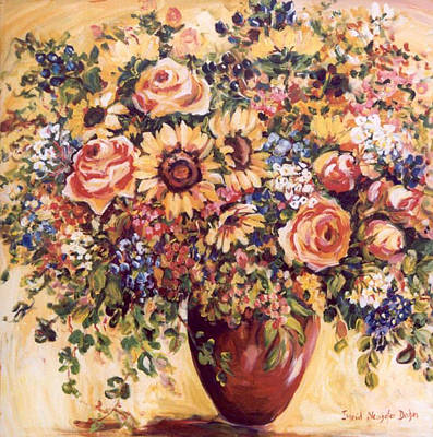 Late Summer Bouquet Art Print by Alexandra Maria Ethlyn Cheshire