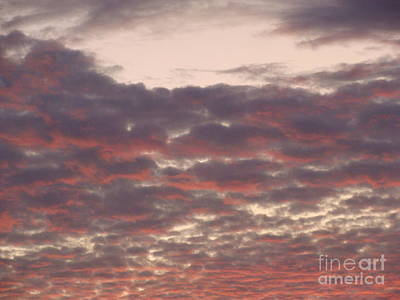 Late Summer Evening Sky Art Print