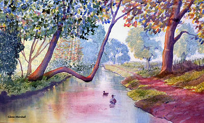 Painting - Late Summer In Brompton By Sawdon by Glenn Marshall