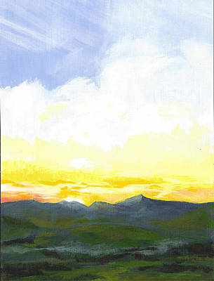 Wall Art - Painting - Late Summer Sunrise by Pam Little